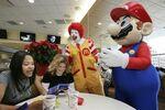 Ronald McDonald and Mario