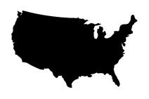 Usa map black