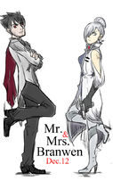 Mr and mrs branwen by chrishoper