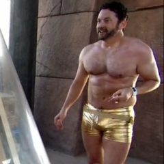 Gold simwear on The Amazing Race