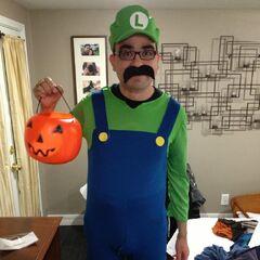 A child's Luigi costume