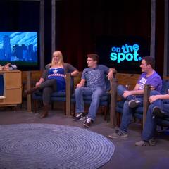 OTS set in talkshow format