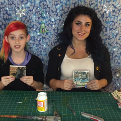 Millie and Chelsea during an episode of Kids Craft