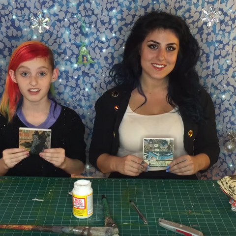 Chelsea and Millie on an episode of Kids Craft