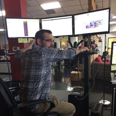 Koen at his job