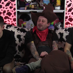 Geoff with Aleks and James from Cow Chop