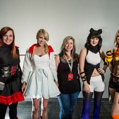 Anna made each of the costumes pictured.