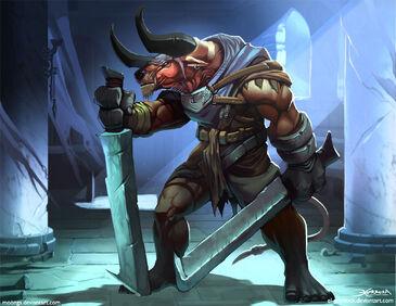 Minotaur berserker by el grimlock-d4ts7l4