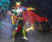 Kamen Rider Kiva DoGaBaKi Emperor Form first henshin