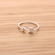 Cupid arrow ring cry silver 1 large