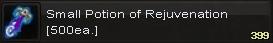 Small potion of rejuvenation(500)