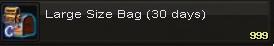 Large size bag(30days)
