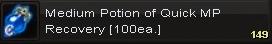 Medium potion of quick mp(100)