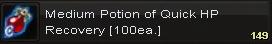 Medium potion of quick hp(100)
