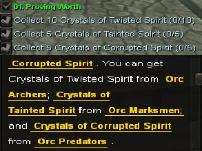 Quest-proving worth