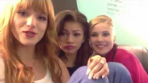 """Caroline Sunshine, Bella Thorne & Zendaya taking about """"I Heart Dance"""""""