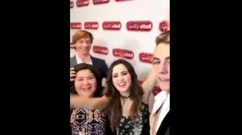 Austin & Ally Cast at Radio Disney (2)