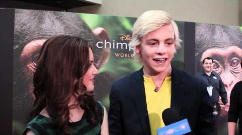 "Laura Marano & Ross Lynch Interview - Disneynature ""Chimpanzee"" Premiere"