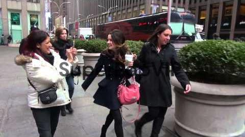 Ross Lynch and Laura Marano at the 'Fox and Friends' stud...