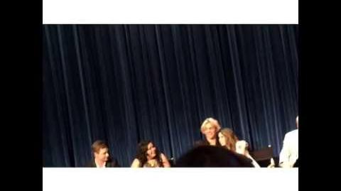 Ross and Laura hug in Paley Live