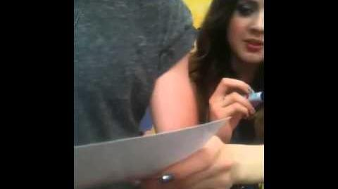 Meeting Ross Lynch and Laura Marano at meet and greet