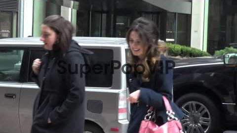 Laura Marano outside the SiriusXM Radio studio in New Yor..
