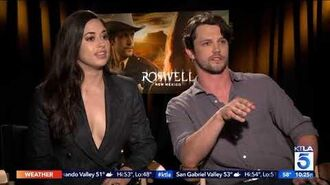 "KTLA chats with the cast of ""Roswell, New Mexico"""