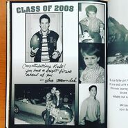 Kyle's yearbook page