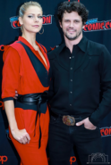 Lily Cowles and Nathan Dean Parsons at NYCC 2019