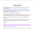 Kitch's Journal