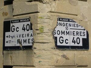 Gc40 - Panneaux Michelin à Calvisson