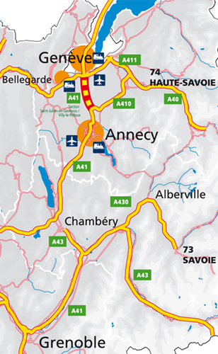 A41-Nord - Localisation