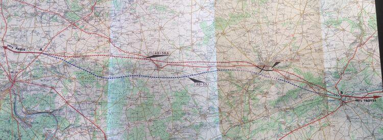 Autoroute Paris - Nancy variante entre Melun et Nogent-sur-Seine (1968)
