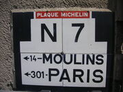 03 BESSAY SUR ALLIER Plaque Michelin
