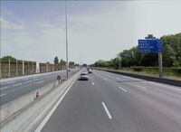 Début de l'A10 à Bordeaux