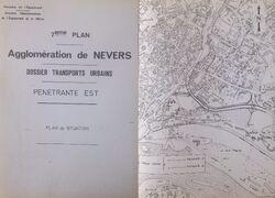 Pénétrante Est de Nevers Plan de situation
