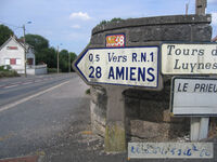 Poteau direction 80N336 - Airaines