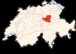 Situation Canton Schwytz