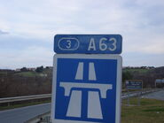 Panneau à l'entrée d'autoroute