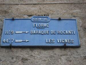 D16 (48) - Plaque Florac