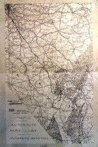 A6 1960 Tracé par la Nièvre