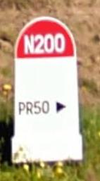 Dernière borne kilométrique au niveau de l'Aléria