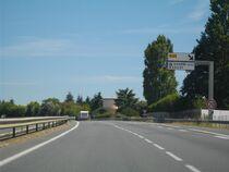 La RN10 à la sortie Vivonne-nord
