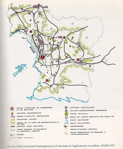 Schéma directeur d'aménagement et d'urbanisme de l'agglomération marseillaise - 1973