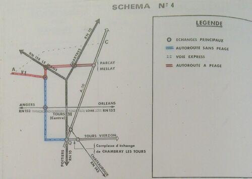A85 1976 raccordement Tours schéma 4