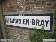 Plaque Michelin 60D022 - Entrée St-Aubin-en-Bray