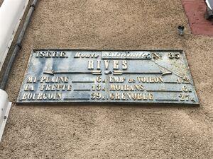 RN85 - Plaque de cocher - Rives