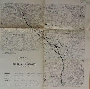 A6 1957 Etude du tracé