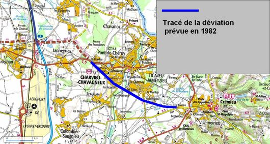 Déviation de Pont de Chéruy (69 Rhone)