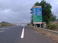 Fin de la 2x2 voies au sud de Niort en direction de la Rochelle